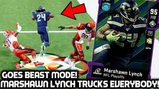MARSHAWN LYNCH RUNS OVER DEFENDERS! HE CAN