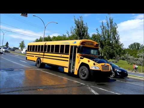 CANADIAN SCHOOL BUSES DRIVING IN MONTREAL QC
