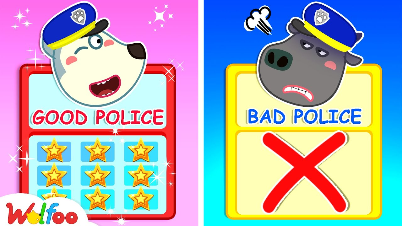 Who Is Good Police? Police Wolfoo or Police Bufo? - Kids Playing Professions | Wolfoo Channel