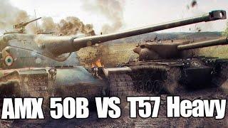 AMX 50B vs T57 Heavy в World of Tanks (wot)