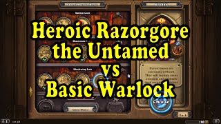 Hearthstone: Blackrock Mountain - Heroic Razorgore with a Basic Warlock Deck