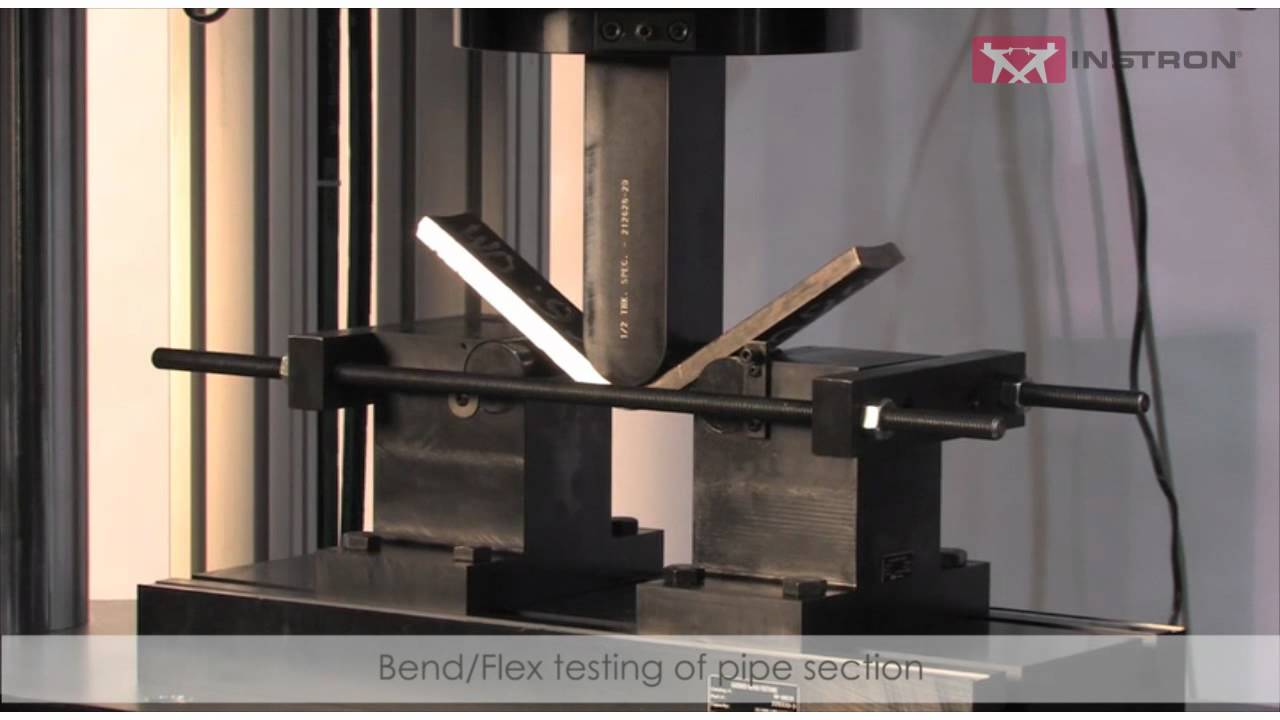 Bend Flex Test On Pipe Specimen Youtube