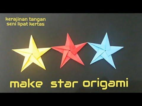 make star origami   star origami #1   Simple Easy Origami   Origami mudah simpel - origami bintang