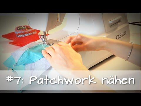7 Patchwork nähen  ♥PatchworkGrundkurs für Anfänger♥