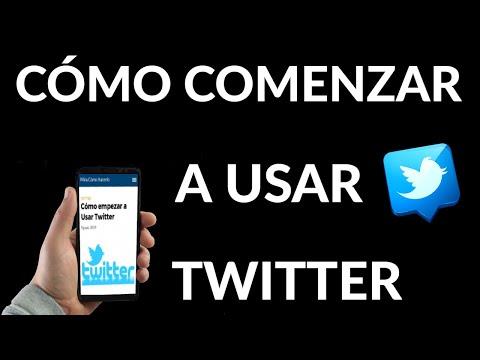Cómo empezar a Usar Twitter