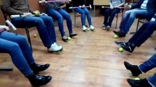 Имитация работы ног при начале движения