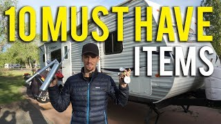 RV ACCESSORIES - TOP 10 ITEMS YOU MUST HAVE (2018)