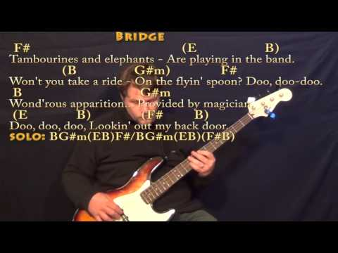 Lookin' Out My Back Door (CCR) Bass Guitar Cover Lesson with Chords/Lyrics