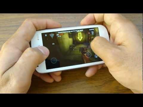 Тестирование тяжёлой игры Dead Trigger в смартфоне Galaxy S Duos