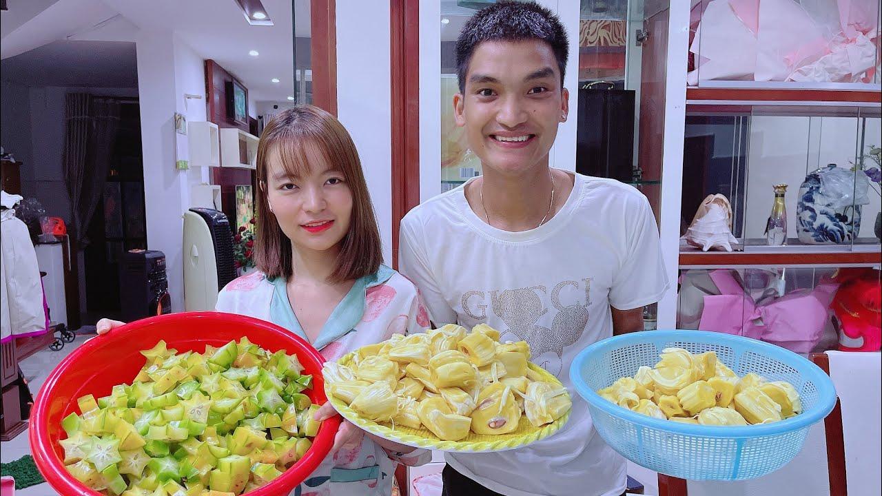 Gia Đình Mạc Văn Khoa ra vườn hái trái cây trong ngày Tết Đoan Ngọ | Cô Hai Bún Đậu
