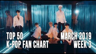 Top 50 K-Pop Songs Chart - March 2019 Week 3 Fan Chart