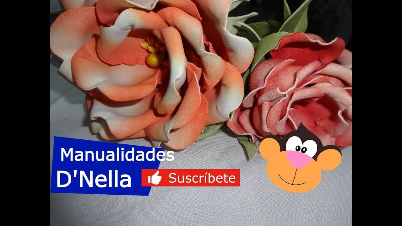 Como Hacer Flores de Foamy ó Goma Eva Fáciles Pasó a Pasó Parte 2  ,By.