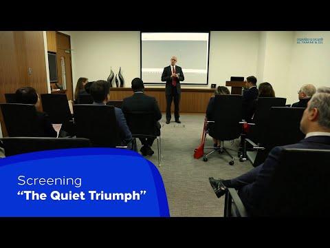 Screening of The Quiet Triumph Arbitration - Story of International Arbitration