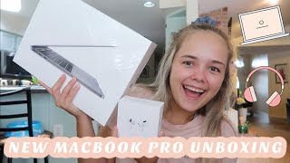 Unboxing my NEW MacBook Pro & AirPods Pro!!