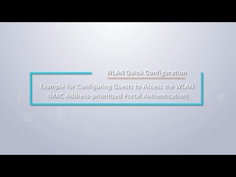 HUAWEI WLAN Quick Configuration: Configure MAC Address-prioritized Portal  Authentication