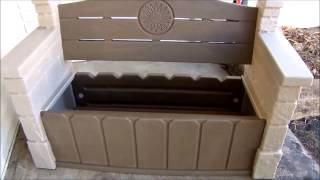 Outdoor Bench With Inside Storage Seats ,assembly - 5 Mn