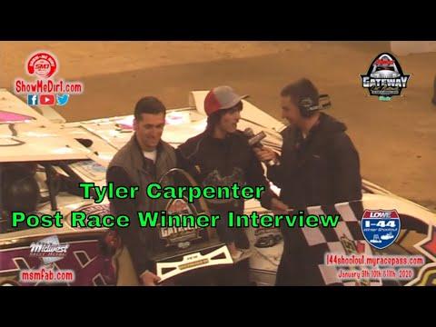 Tyler Carpenter Post Race Winner Interview DirtinDecember 12-21-2019
