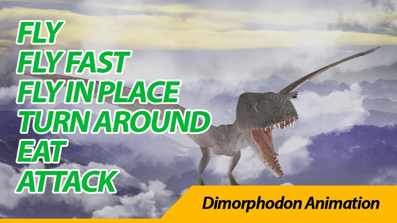 Dimorphodon animation 디모르포돈