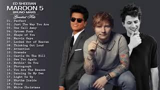 Las Mejores Canciones De Bruno mars, Charlie Puth, Ed Sheeran - Grandes Éxitos Álbum 2019