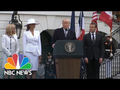 President Donald Trump Leads WH Arrival Ceremony For French President Emmanuel Macron   NBC News