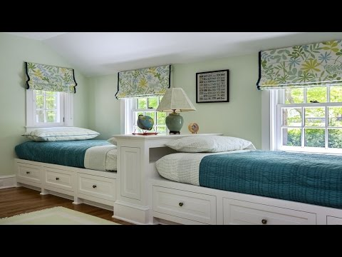 Cool Twin Bedroom Design with Double Bed for Teenage Room - Room Ideas