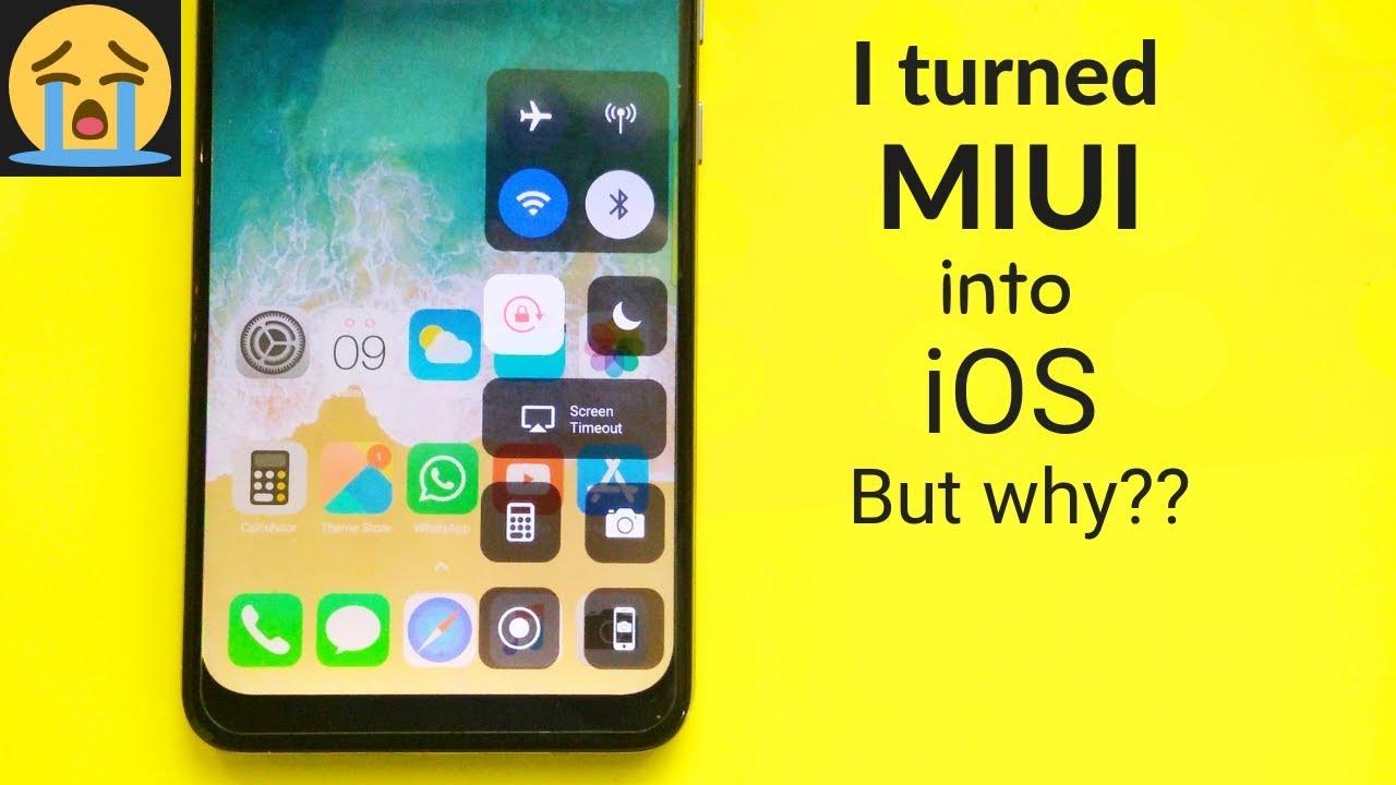 I turned my MIUI into iOS 🔥