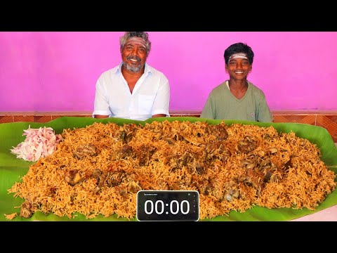 5 KG MUTTON BIRYANI EATING CHALLENGE | WORLD FAMOUS HYDERABAD MUTTON BIRYANI | FARMER COOKING