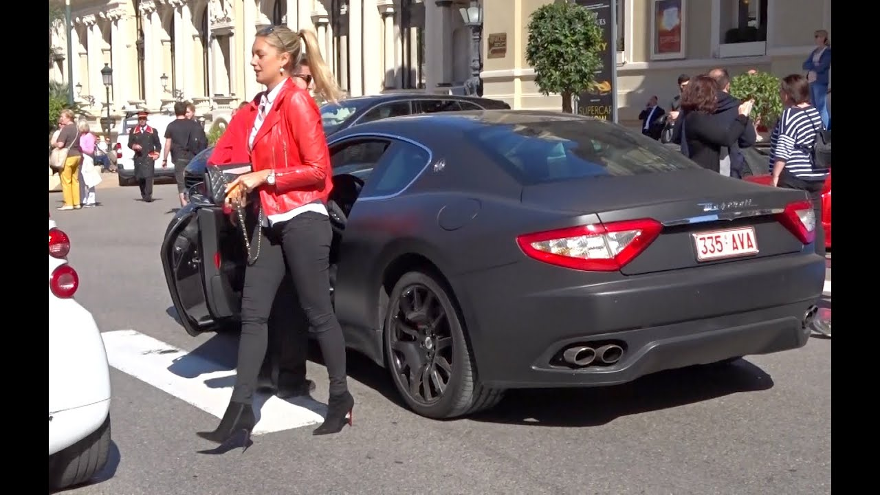 Blond Girl In Black Mat Maserati In Monaco Youtube