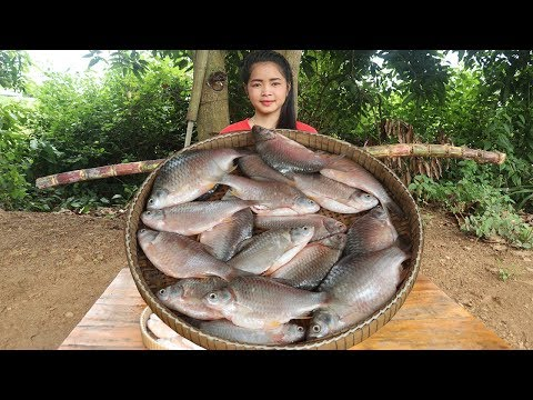 Awesome Cooking Fish With Sugarcane Delicious Recipes – Cook Fish Recipe – Village Food Factory