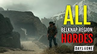 HOW TO DEFEAT ALL HORDES AT BELKNAP REGION (HORDE LOCATIONS + GAMEPLAY) | DAYS GONE