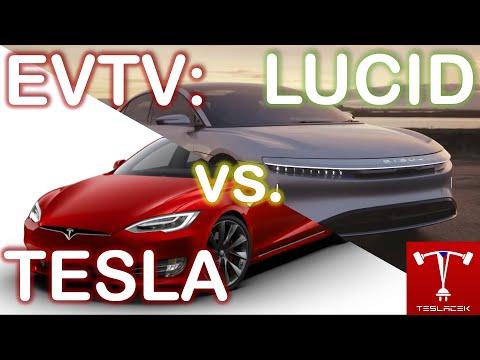 #218 #Lucid Air vs. #Tesla Model S | EVTV | Teslacek