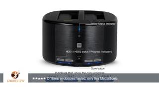 "Mediasonic USB 3.0 2 Bay 2.5"" / 3.5"" SATA SSD / Hard Drive Docking Station w/ Clone Function Support"