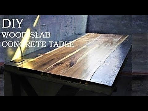 Making table with wood slab and concrete / 우드슬랩 + 콘크리트로 테이블 만들기  l DIY channel