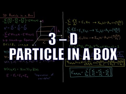 Quantum Chemistry 3.11 - 3-D Particle in a Box