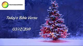 Today's Bible Verse | இன்றைய வேத வசனம் | 03/12/2019 | Tamil And English | Created By Hanniel Vinu |