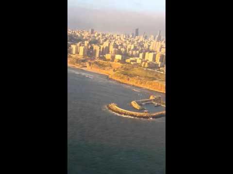 ME325 landing in Beirut
