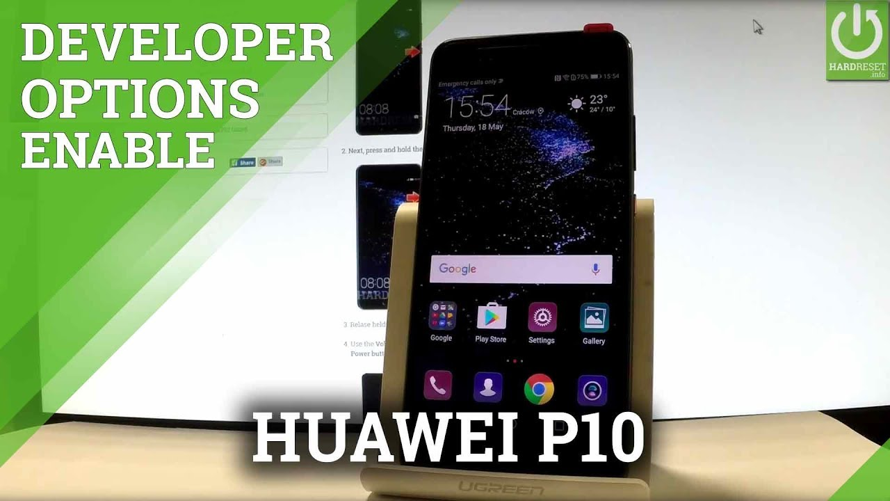 Developer Options in HUAWEI P10 - Enable USB Debugging