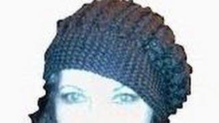 Шапка(берет), вязание спицами/ knitting hat
