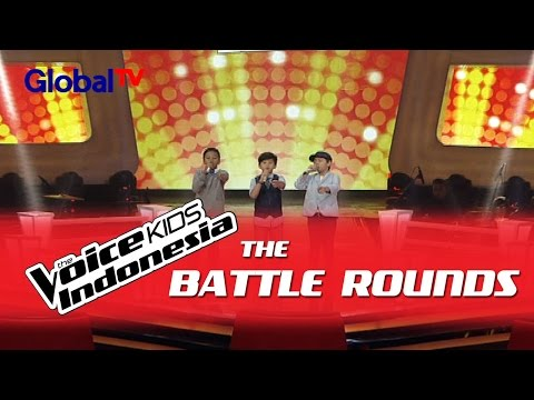 "Alde vs Reiner vs Shem ""Eeeaa"" I The Battle Rounds I The Voice Kids Indonesia 2016"