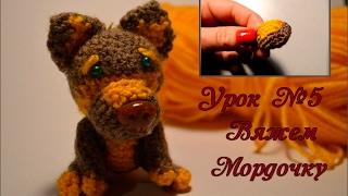 Собачка амигуруми: вяжем мордочку (урок №5)