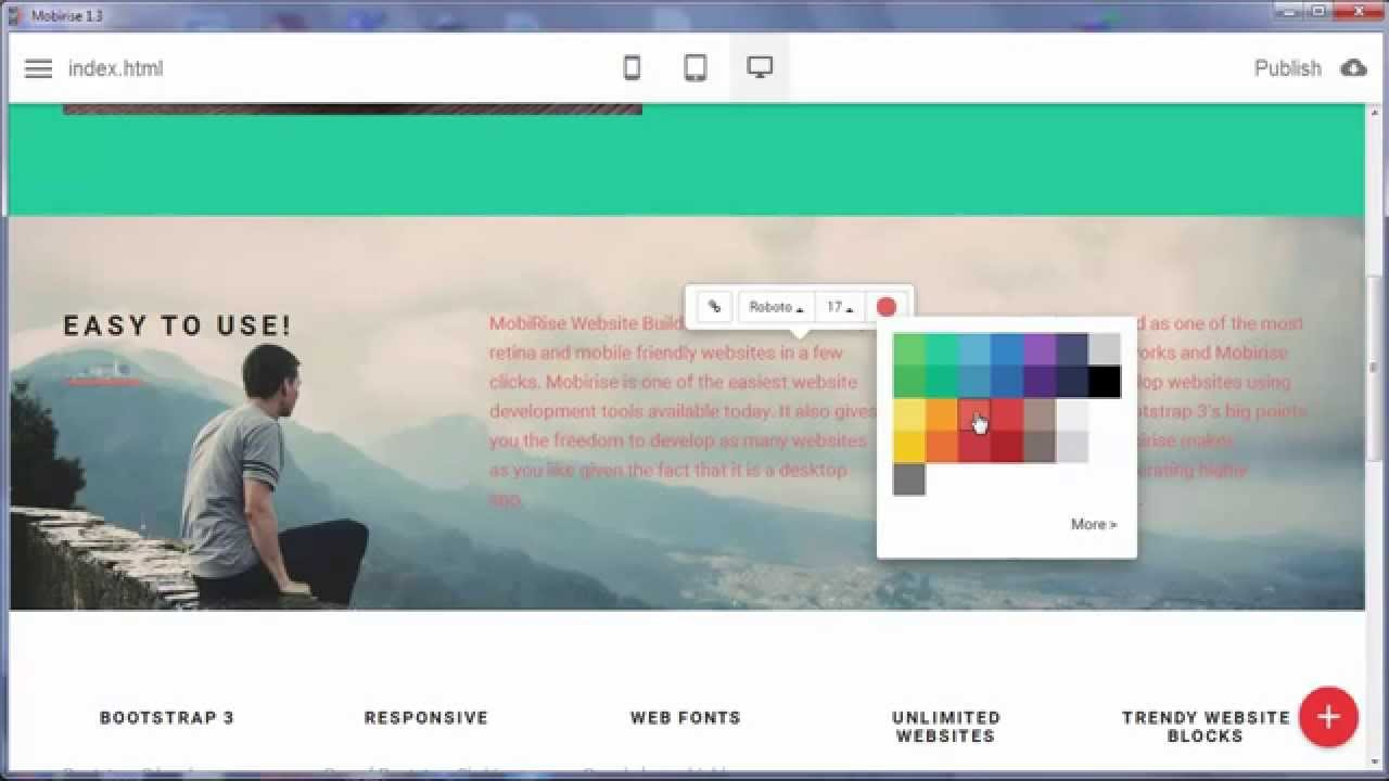 Free Mobile Bootstrap Website Builder v1.3! - YouTube