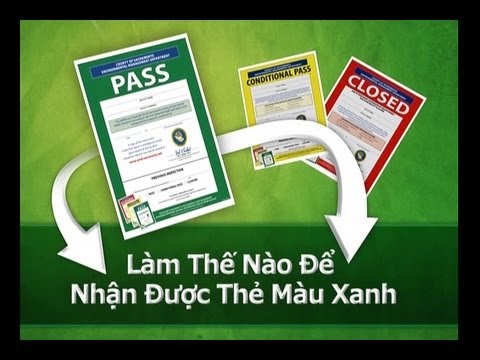 Food Safety - How to Get a Green Placard: Vietnamese
