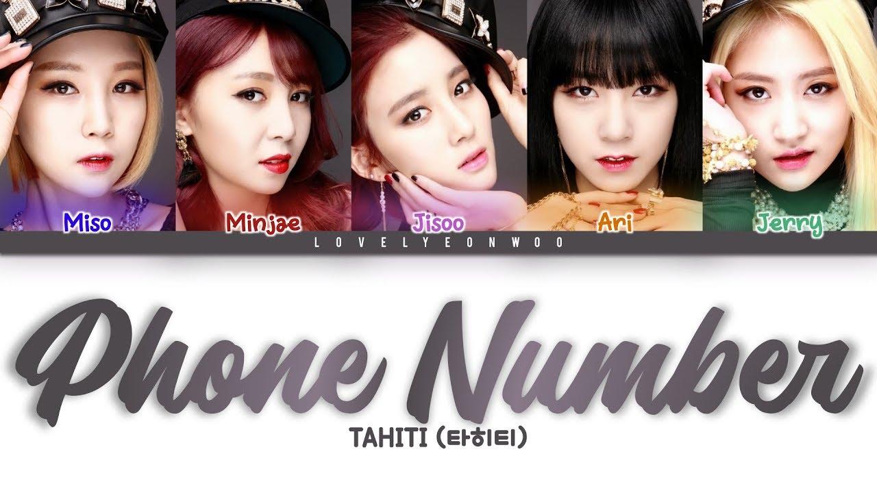 TAHITI (타히티) – Phone Number Lyrics (Color Coded Han\/Rom\/Eng) - YouTube