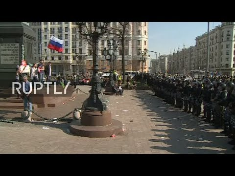 LIVE: Navalny supporters attend unauthorised rally in Moscow