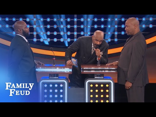 Steve wants to GO HOME! | Celebrity Family Feud | OUTTAKE