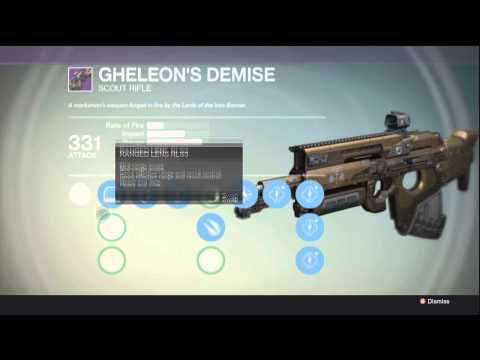 Best scout rifle in destiny my weapon showcase gheleons demise