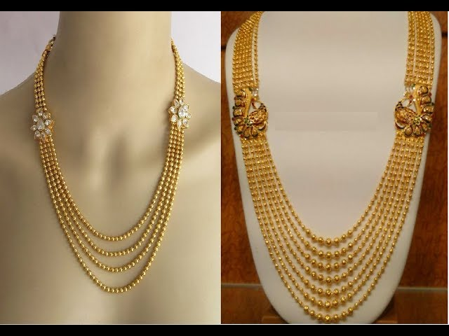 Exclusive Gold Chandraharam Necklace Collections