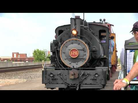 Steam locomotive action in Wichita, Kansas Lehigh Valley Coal #126