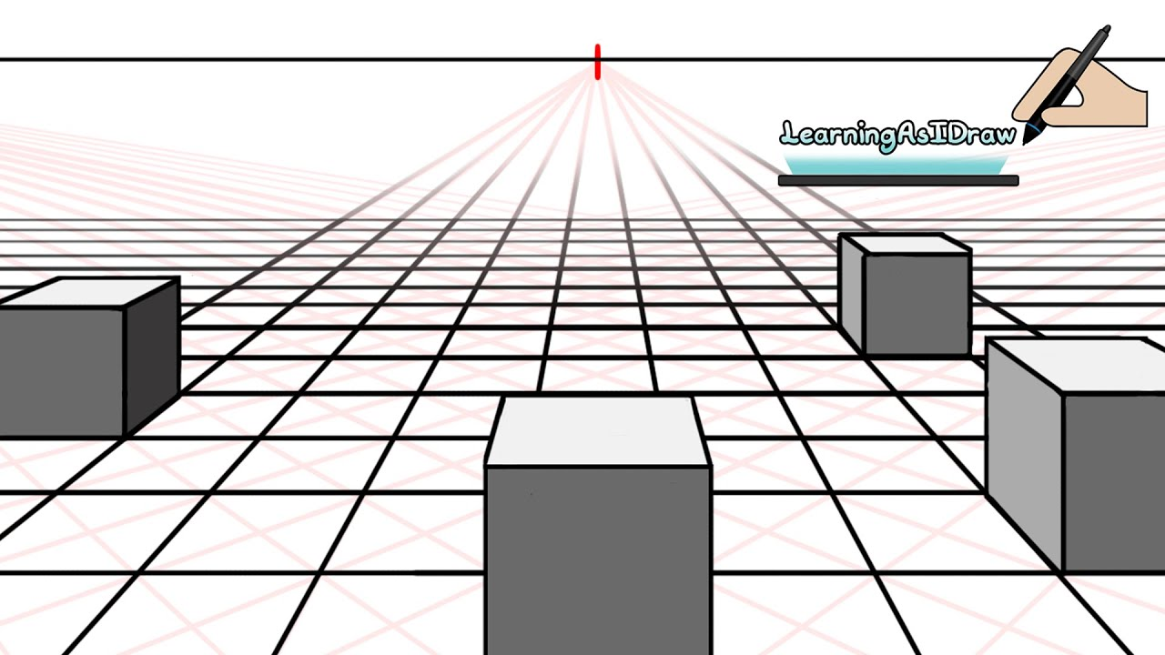 One point perspective the perfect square and floor planes for Draw a room to scale