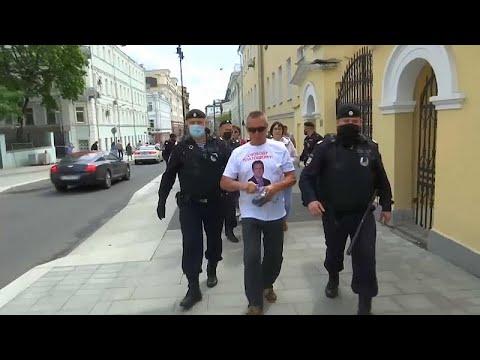 В Москве задержаны участники акций протеста в поддержку Фургала и Платошкина…